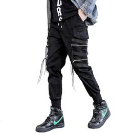 16245a7119fc Fashion Zippers Design Harem Pants Hip Hop Streetwear Sweatpants Elastic  Joggers Drop Shipping ABZ162