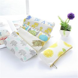 world stationery Australia - Cotton Linen New Creative Pencil Case School Learning Stationery Student Gift Home Office Storage Supplies Magic World Bag