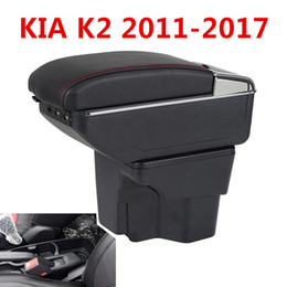 Discount car central armrest - Car Armrest For Kia K2 RIO 2011-2016 Central Store Content Storage Box With Cup Holder Ashtray Accessories Car-Styling A