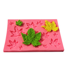 silicone mold cake leaf Australia - Maple Leaves Shape Cake Sugar Silicone Mold Baking Mould Tools Kitchen Chocolate Sugarcraft Good Quality Hot Sale 1 4skh1
