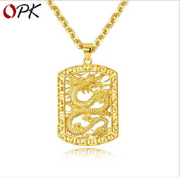 $enCountryForm.capitalKeyWord Australia - Gold-plated men's atmospheric pendants Domineering boss hollow dragon necklaces