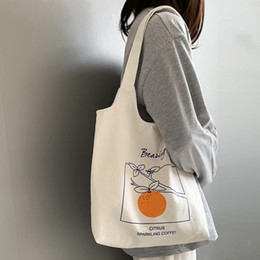 $enCountryForm.capitalKeyWord Australia - Women's Canvas Shoulder Tote Bag Large Capacity Cotton Cloth Shopping Bags Female Handbag Foldable Reusable Beach Shopper Bag
