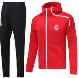 3cfda053559 Real Madrid Training Pants UK - 2019 Real Madrid Jacket Kit 2018 Chandal  Full Zipper Long