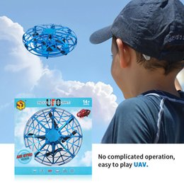 foam ball magic Canada - Mini UFO Drone Anti-collision Flying Helicopter Magic Hand UFO Ball Aircraft Sensing Induction Drone Kid Electric Electronic Toy