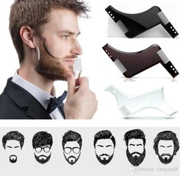 shaved hair styles Australia - 2019 Men Beard Shaping Styling Template Tool Double Sided Beard Comb Beauty Tool Shaving Hair Removal Razor Tool for Men