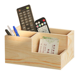 Stationery Australia - Desk Pen Pencil Holder Solid Wood Multi-Function Desk Stationery Organizer Storage Box,Business Name Cards Remote Control Holder Office Home
