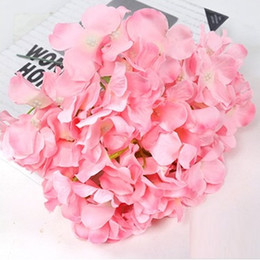 real hydrangea flowers Australia - Marki Artificial Hydrangea Flower Head 47cm Fake Silk Single Real Touch 8 Colors for Wedding Centerpieces Home Party Decoration wn506 100pc