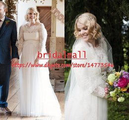 4fe84d6c5a32a Vintage 2019 Lace Top Pregnant Wedding Dresses With Sheer Long Sleeve Beach  Boho Bridal Gowns Plus Size Maternity Wedding Bride Dress