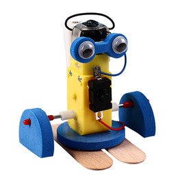 small robot toys UK - Collecting new student science and technology small production DIY materials puzzle teaching toys small invention crawling robot