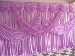 Drapes For Decorations Parties Australia - 10ft*20ft (3m*6m)Wedding backdrop curtain for wedding decoration event party curtain drapes stage background curtain 2017 24