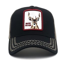 8baee944423b1 Fashion deer embroidery animal baseball caps rooster hat men and women  universal adjustable dad truck driver mesh net hats shade