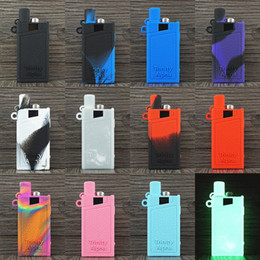 Silicone mouthpiece cover online shopping - Trinity Alpha Case Silicon Sleeve Carrying Pouch cover non slip with mouthpiece dust cap vape Pod Silicone leather Cases DHL