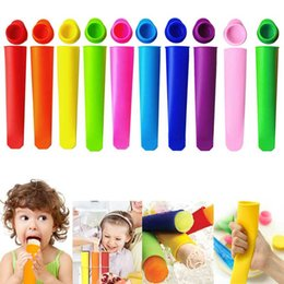 push up ice mold Australia - Silicone Ice Pop Mold Popsicles Mould with Lid Ice Cream Makers Push Up Ice Cream Jelly Lolly Pop For Popsicle