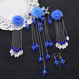 Wholesale 4 in Sets Classical Chinese Women s Hair Jewelry Performance Cosplay Girls Hairpins Jewelry