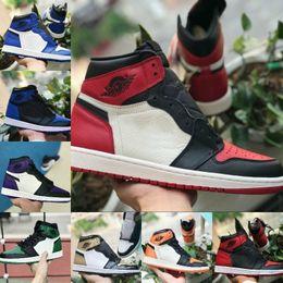 221818a158d Nike Air Jordan retro 1 Shoes 2019 New Jordans 1 Mid TOP 3 Zapatos de  baloncesto OG altos Juego Royal Banned Shadow Bred Red Blue Toe Barato  Hombres Mujeres ...