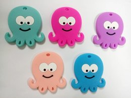 children baby teeth NZ - Octopus Silicone Baby Teether BPA Free Silicone Teether Beads Chewing Baby Teething Pendant Tooth Training Toys Children Bite Plastic Toys