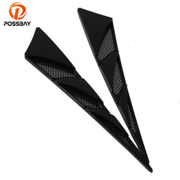 Car Air Flow Australia - POSSBAY ABS Black Truck Auto Automobile Car Outlet Air Intake Hood Decoration Sticker And Decals Air Flow Vent Car Styling