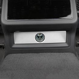$enCountryForm.capitalKeyWord Australia - Car Console Armrest Rear Cigarette Light Panel Decorative Frame Cover Trim Sticker For Audi A6 C8 2019 Interior Auto Accessories