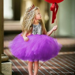 $enCountryForm.capitalKeyWord Australia - Princess Kids Baby Fancy Wedding Dress Sequins Formal Party Dress For Girl Tutu Kids Clothes Children Backless Designs Dresses