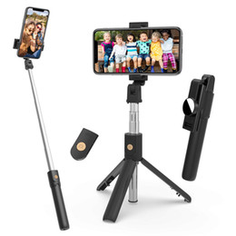 extendable mirror NZ - Selfie Stick Tripod,Bluetooth Selfie Tripod with Mirror,Extendable Phone Tripod with Wireless Remote Phone Holder Compatible with iPhone