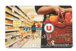 Ic Chips Wholesale Australia - MDC70 contact IC card hard pvc 4428 chip smart card for door access