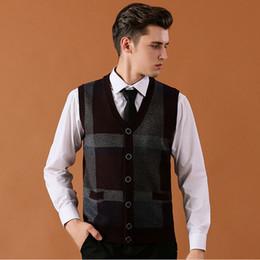 $enCountryForm.capitalKeyWord Australia - Asian Size Men's Sweater Cardigan Buttons Down Knit Jacket Sleeveless Basic Vest Striped Wool Vintage Casual Fashion K-12