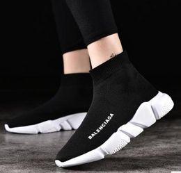 shoe sock sizes 2019 - AQ3 2019 Size 36-45 Designer Luxury Brand Sock Shoes Black Red Paris Slip-on High Top Men Women Casual Flat Shoes Sneake