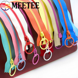 $enCountryForm.capitalKeyWord NZ - MEETEE 20pcs 3# 30cm multicolor Resin zipper pull ring zipper head for Bag Garment Sewing Material DIY Accessory Craft A2-1