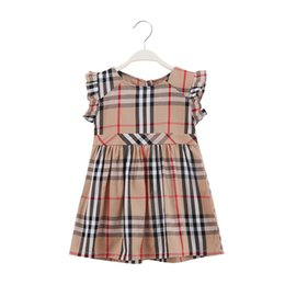 Cotton laCe trims online shopping - Plaid Cotton Girls Dresses With Ruffle Trim Design Girls Princess Dress Shift Skirt And Plady Dress For Sunny Summer Days