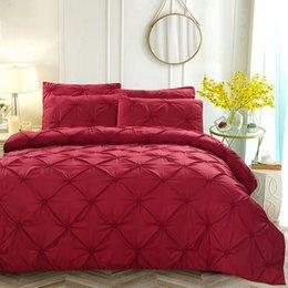 $enCountryForm.capitalKeyWord Australia - 3pcs Zipper Washed Set Pillowcase Soft Decorative Bedding Home Textiles Duvet Cover Polyester