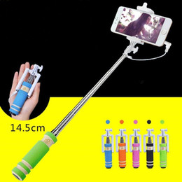 $enCountryForm.capitalKeyWord Australia - HOT SELL Fashion Cell Phone Wired Remote Selfie Stick Monopod Pole Holder Mobile App E190