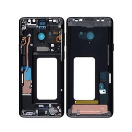 $enCountryForm.capitalKeyWord Australia - Front Housing for Samsung S9 Plus LCD Middle Frame Replacement Black Purple Blue Gray with Small Parts Or