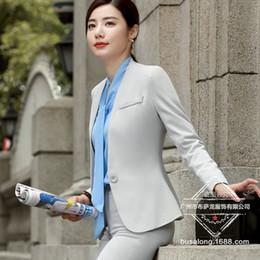 ca28e2b9103 Fashion business pants suits set temperament formal slim blazer and Trousers  office Interview ladies plus size work wear