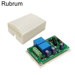 Discount gate lamp lights lighting - Rubrum 433MHz Remote Control Switch DC 12V 2CH RF Relay Receiver Module RF For Light Lamp Switch Gate Garage Door Motor