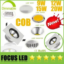 $enCountryForm.capitalKeyWord Canada - High Bright CREE 9W 12W 15W 20W Dimmable COB LED Downlights+Power Supply 110-240V Tiltable Fixture Recessed Ceiling Down Lights Lamps CE UL