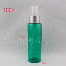 Green Plastic Bottles Australia - 100ml plastic spray green bottle cosmetic travel container mist spray, Fine sprayer plastic bottles perfume travel liquid bottle