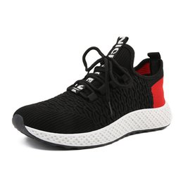 Korean lace fabric online shopping - 2019 New Korean Sports Spring and Summer Flying Woven Casual Mens Breathable Mesh Student Shoes Sneakers