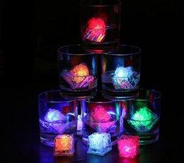 Glow Party Decorations Australia - Ice Cube LED Light Flashing Submersible Multi-Color Liquid Sensor Glow Lighting for Drinking Wine Wedding Party Bar Decoration