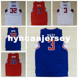cf6a0a7c0 2016 #3 Paul Jersey,Stitched High Quality Wholesale Basketball Jerseys,#32  Blake Griffin Jersey camiseta baloncesto Ncaa