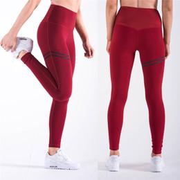 Moda Fitness Leggings per donna Pantaloni da corsa Vita alta Luxury All-Match Felpa Slim Hips Ruffle Jogging Pantaloni da yoga donna in Offerta