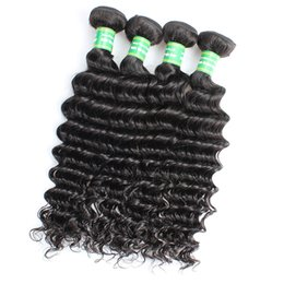 Hair Waves Online Australia - 8A Indian Human Hair Deep Wave 8-28 inch Natural Color Brazilian Deep Wave Bundles Remy Hair Extension Online Cheap