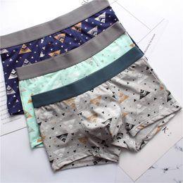 $enCountryForm.capitalKeyWord Australia - 2019 Fashion Sexy Printing Men Boxers Underwear Cotton Breathable Comfortable Panites Soft Men Shorts Boxers Underwear Hombre