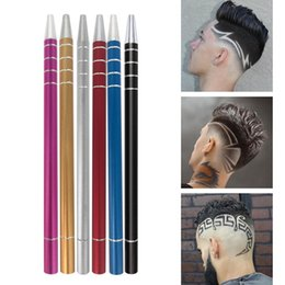 shaved hair styles NZ - Hair Carving Pen Magic Hair Styling Eyebrows Beards Razor Salon DIY Engraved Razor Pen Hair Refined+10pcs Shaving Blades