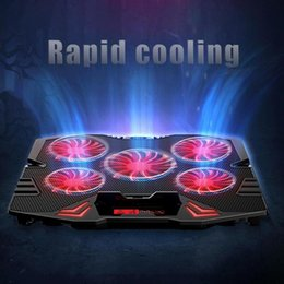 Discount gaming stand - ICE COOREL K5 2 USB Laptop Gaming Cooler Stand 5 Cooling Fans General Touch Screen Type With USB Cable for macbook air p