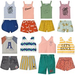 tutu cute dance Australia - Kids Clothes 2020 BC Brand Summer Boys Sleeveless Dance T Shirts Pants Girls Vest Baby Child Shorts Tops Tees Girl Set Outfits CY200515