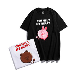 $enCountryForm.capitalKeyWord Australia - Brown bears can ni rabbit lovers with short sleeve tshirts Hot style INS the little red book High Quality Brand Shirts 002