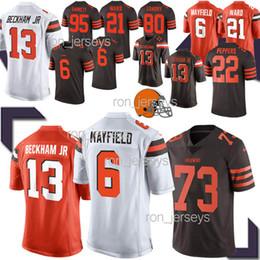 95 cotton online shopping - Cleveland jerseys Brown Odell Beckham Jr Baker Mayfield Jarvis Landry Denzel Ward Myles Garrett Jersey Top MEN