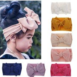 $enCountryForm.capitalKeyWord Australia - Multi colors DIY baby girl candy color big bow headband Design Hair bowknot Children Headwear Girls Baby Hair Accessories