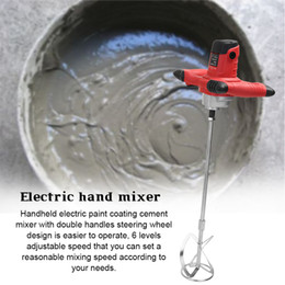 control painting 2019 - Industrial Grade Mixer Electric Speed Control Handheld Paint Cement Plaster Mortar Coating Putty Mixing Machinery discou