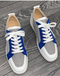 ShoeS amazing online shopping - Amazing Brands Sneaker Men Junior Red Bottom Shoes Rantulow Flats High Quality Lace Up Designer Men Women Walking